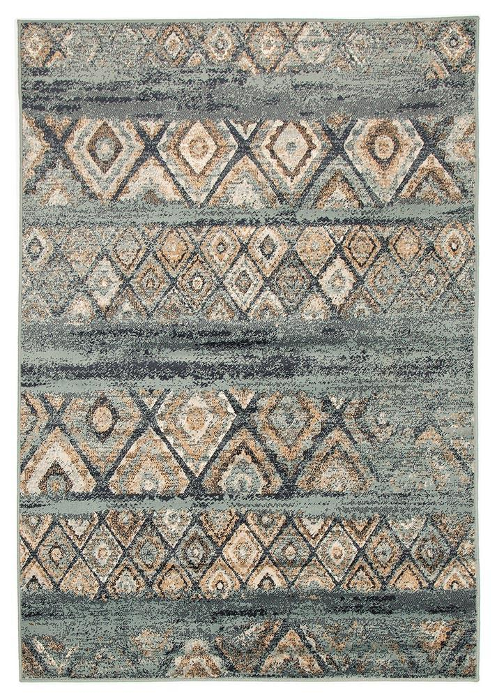 Mayfair Contrast Blue Rug - MaddieBelle