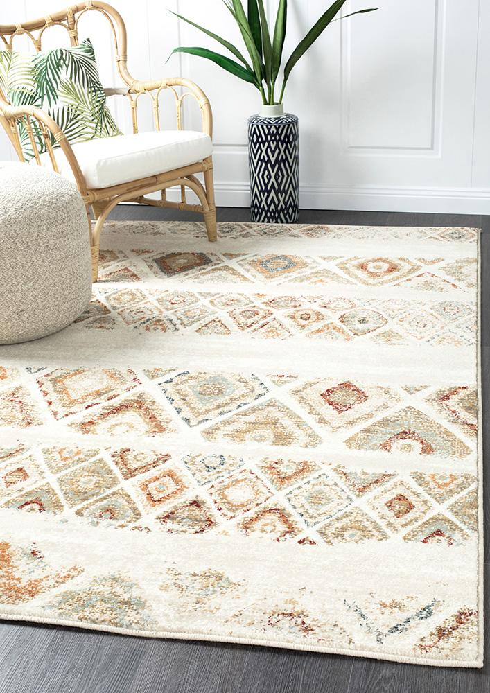 Mayfair Contrast Rust Rug - MaddieBelle