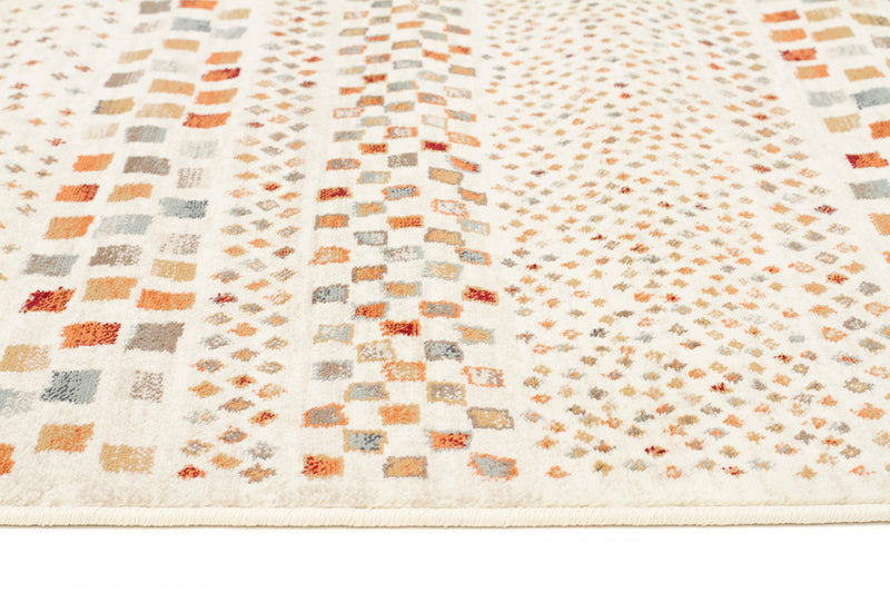 Mayfair Squares Bone Runner Rug - MaddieBelle