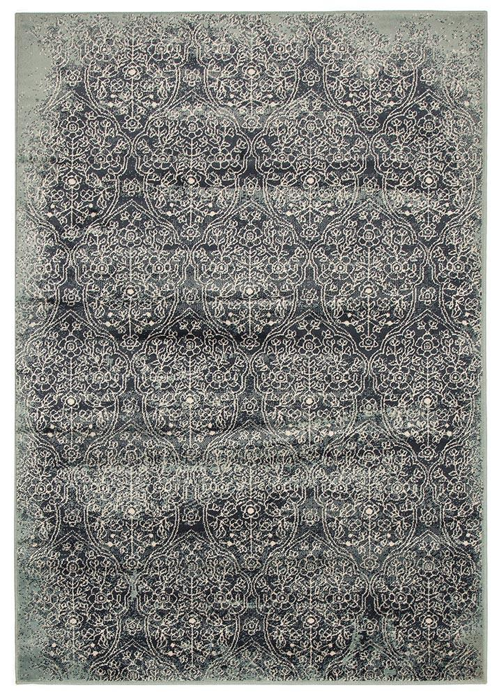Mayfair Edge Denim Rug - MaddieBelle