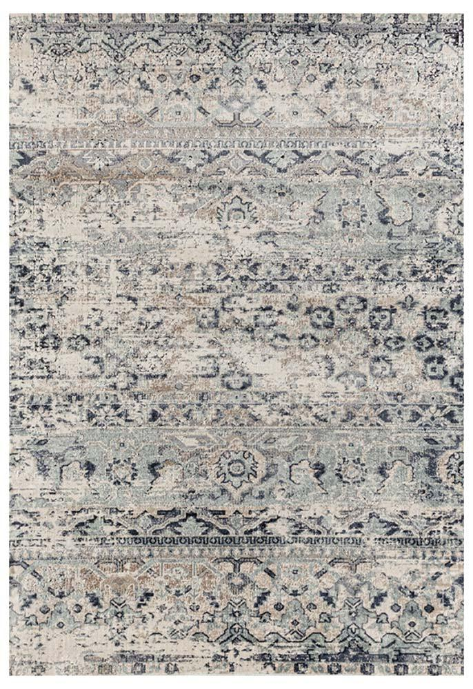 Esquire Segments Traditional Blue Rug - MaddieBelle