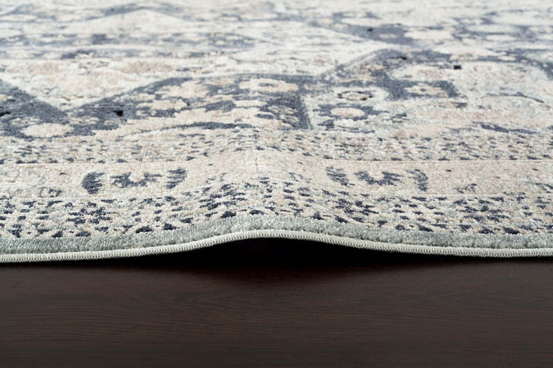 Esquire Brushed Traditional Blue Rug - MaddieBelle