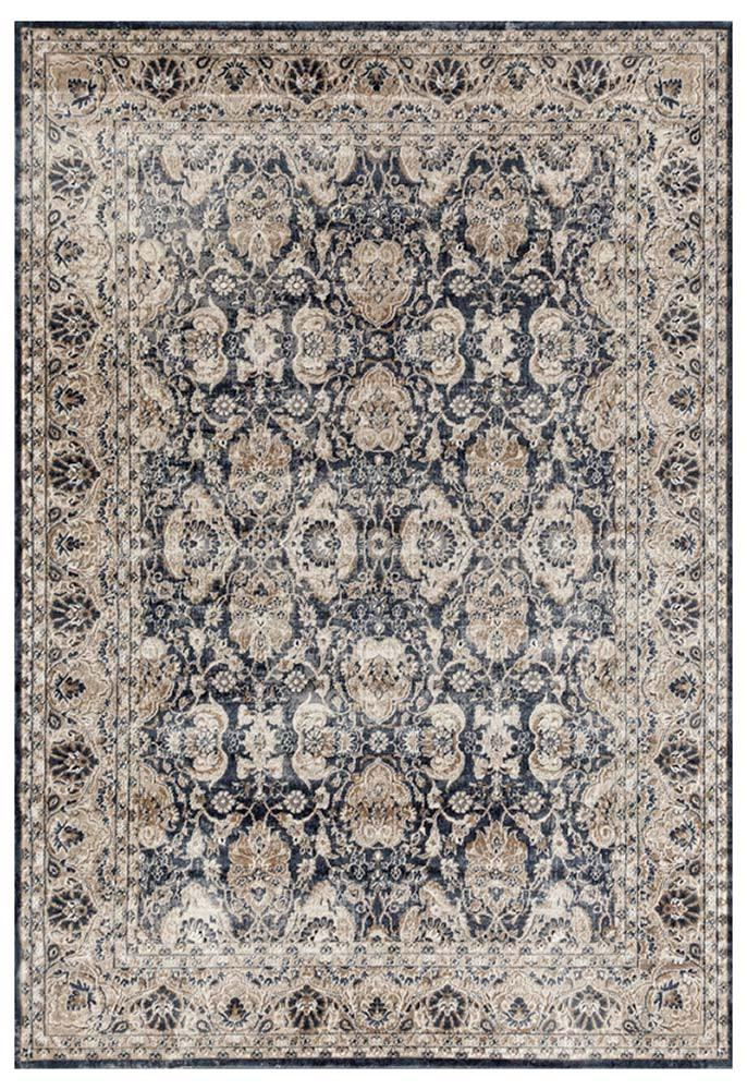 Esquire Balance Traditional Blue Rug - MaddieBelle