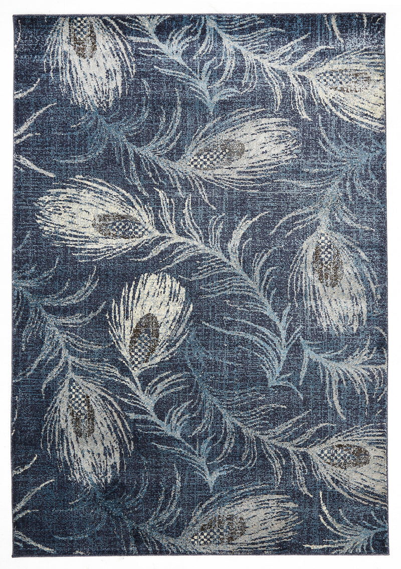 Opulence Feather Navy Rug