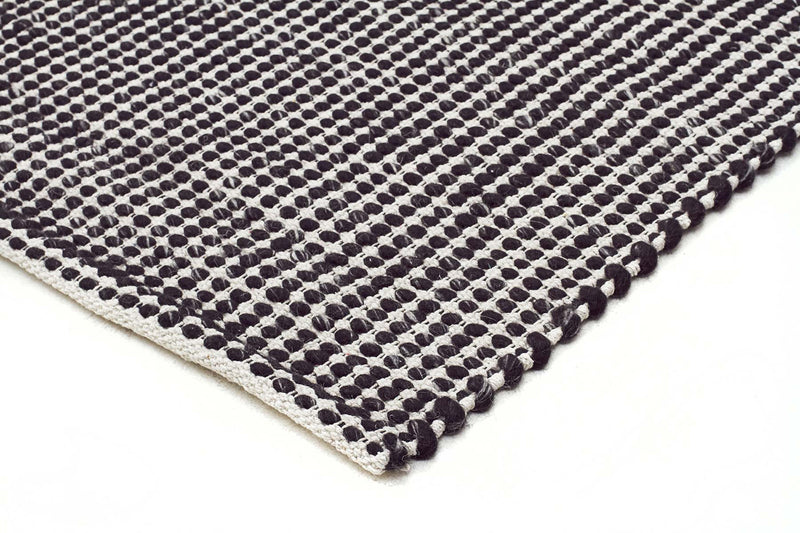 Skandi Felted Black Natural Wool Rug - MaddieBelle