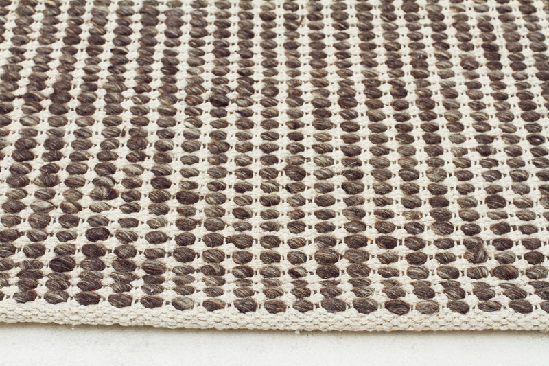 Carlos Felted Brown Wool Rug - MaddieBelle