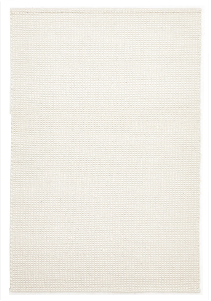 Carlos Felted White Wool Rug - MaddieBelle