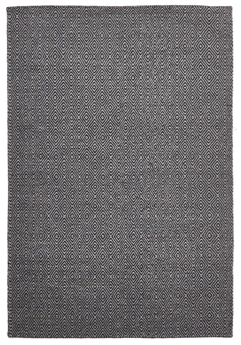 Black Diamond Wool Rug - MaddieBelle
