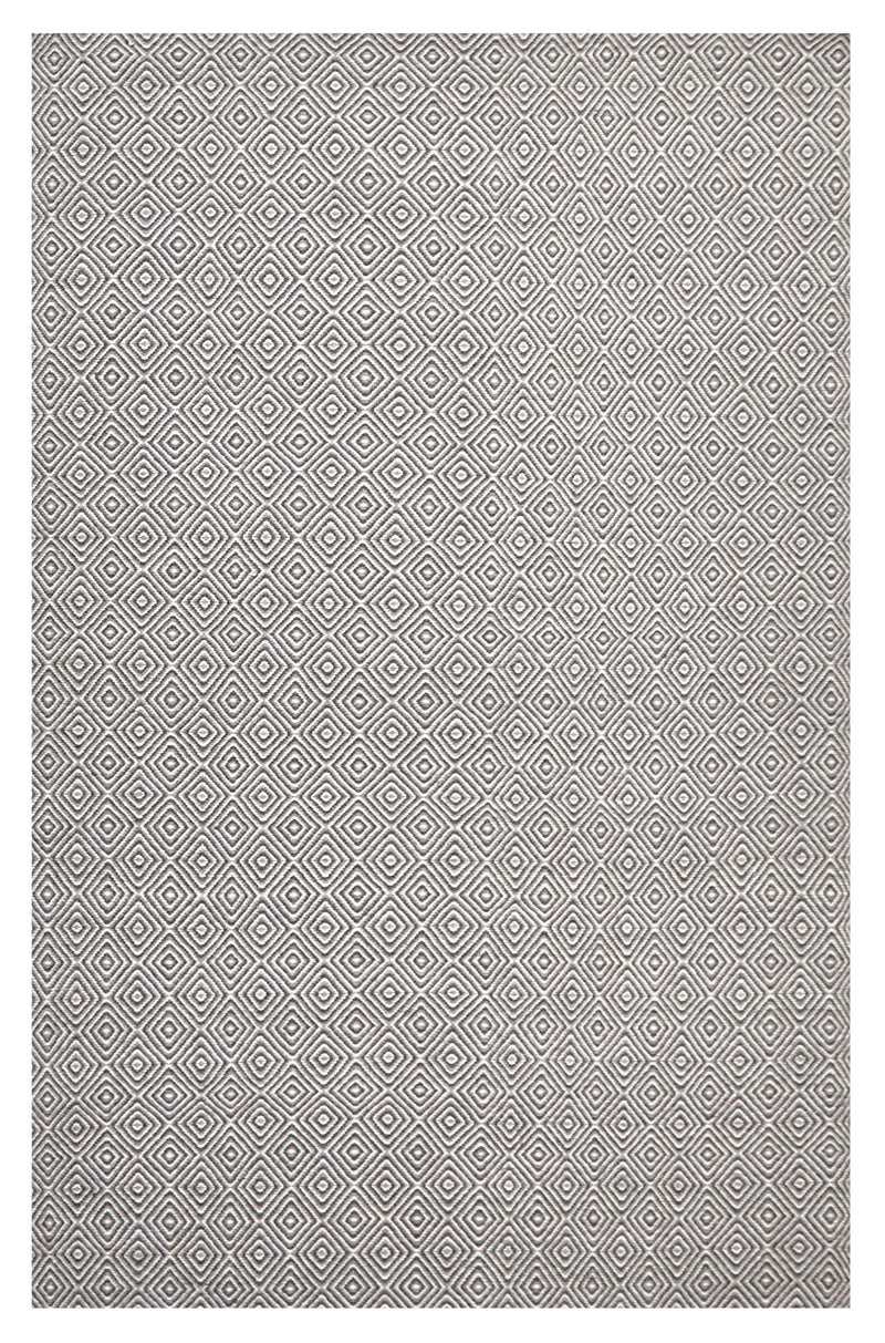 Dark Grey Diamond Wool Rug - MaddieBelle