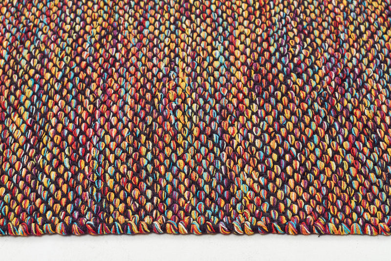 Multi-Coloured Flat Weave Cotton Rug - MaddieBelle