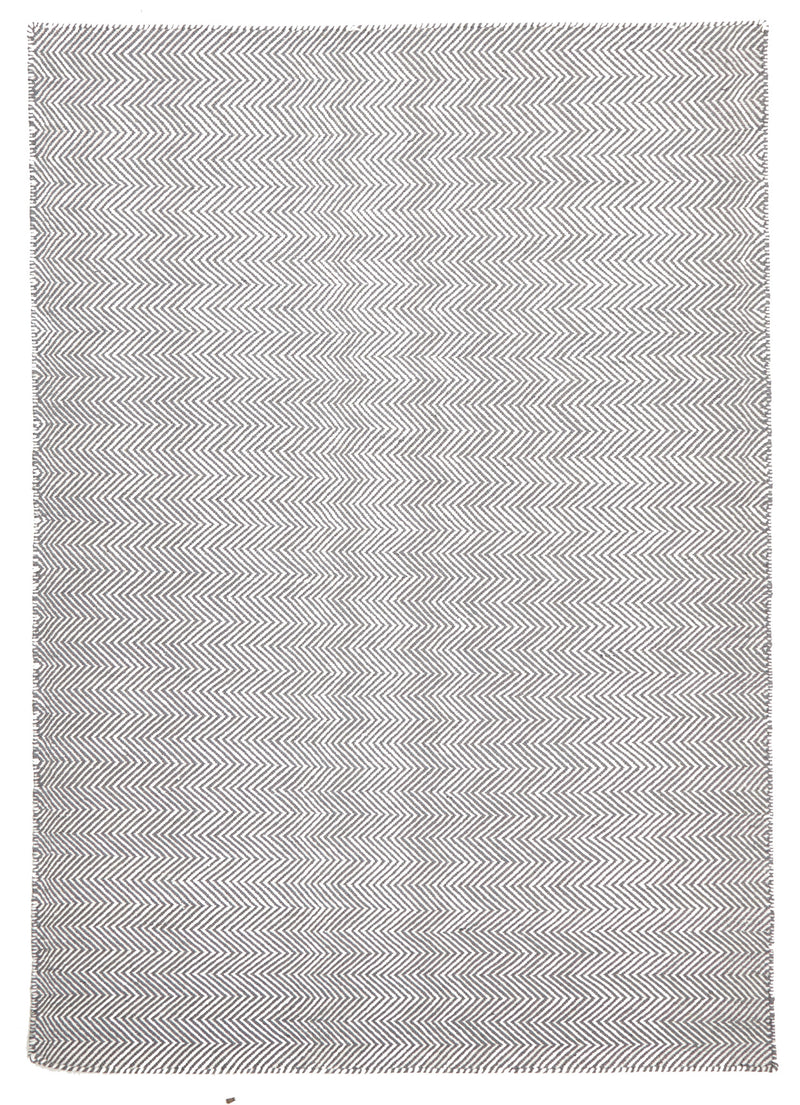 Herring Bone Chevron Rug Grey