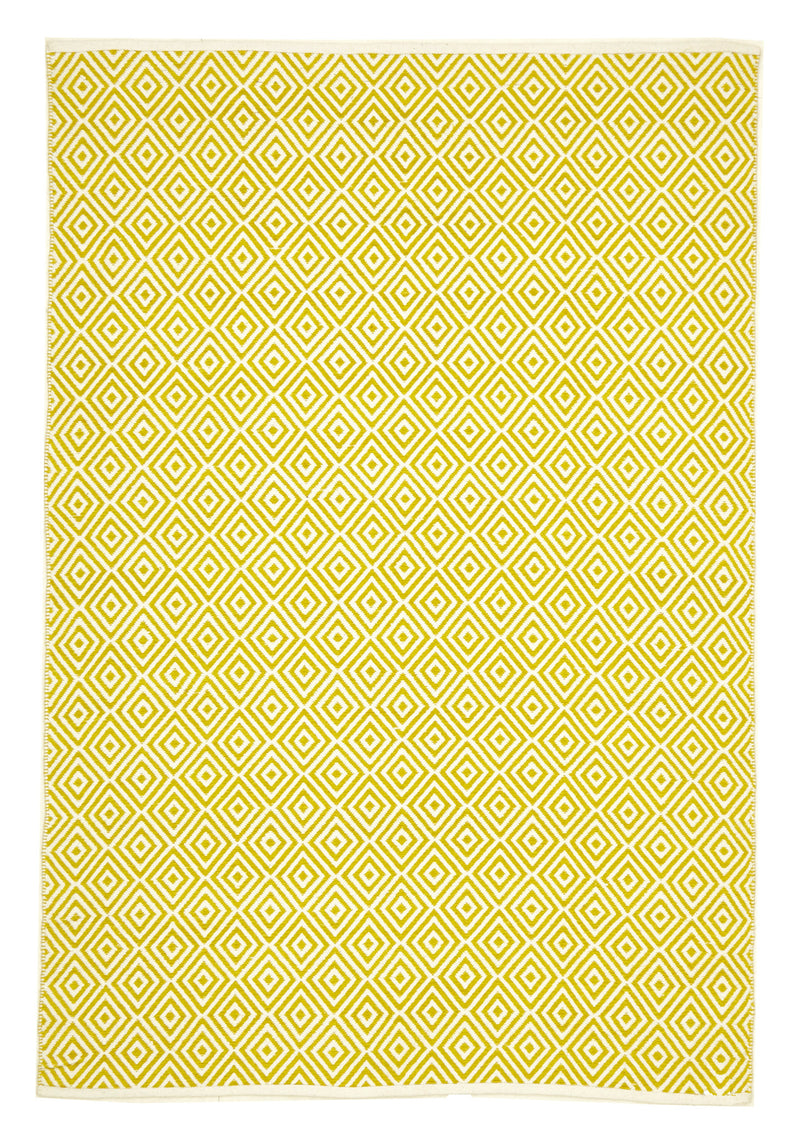 Villa Modern Diamond Rug Yellow - MaddieBelle