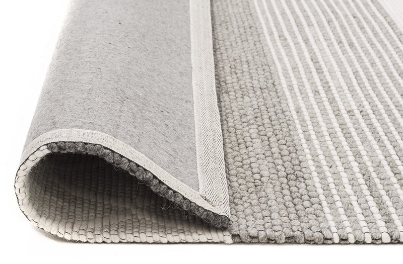 Karlsson Wool Hatch Textured Rug - MaddieBelle