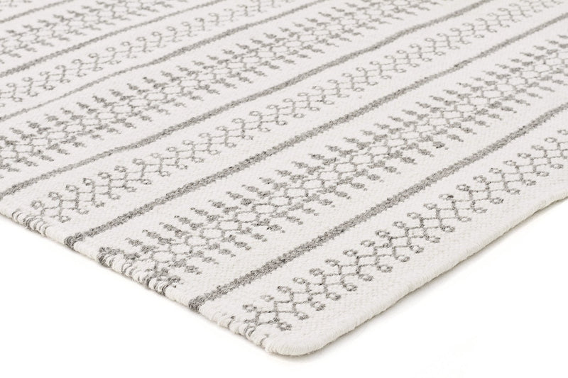 Ester Delicate Lace Woollen Rug Ivory Grey - MaddieBelle