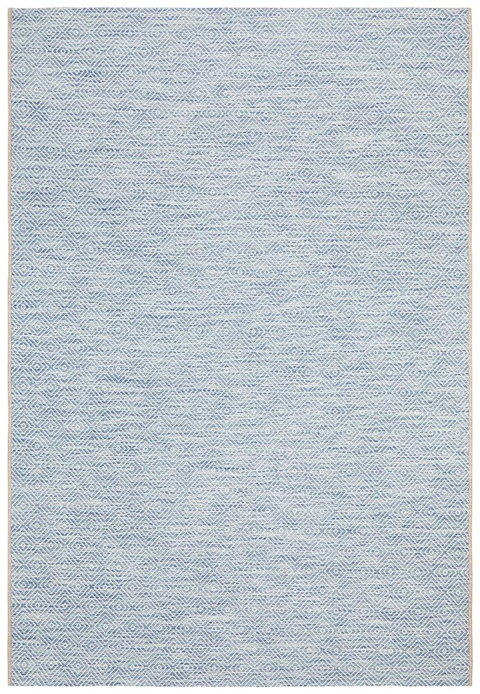 Terrace Clara Diamond Rug Blue - MaddieBelle