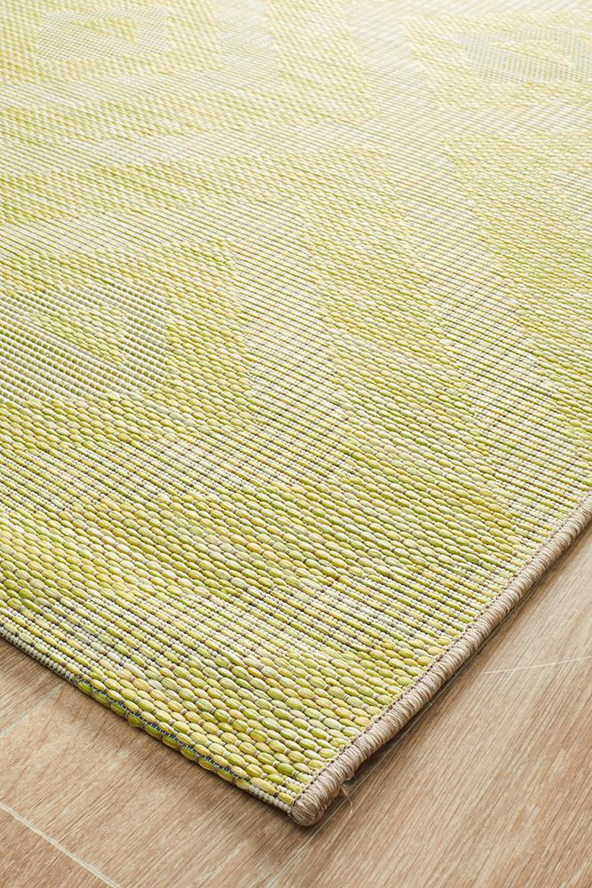 Terrace Cain Rug Lime Green - MaddieBelle