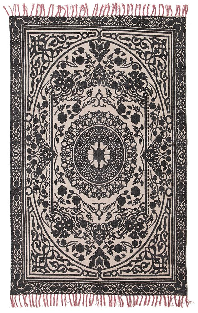 Black-Cotton-Flatweave-Rug
