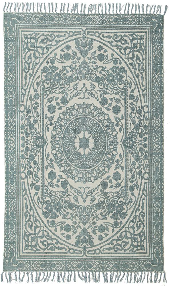 Totemic Parade Turquoise Rug