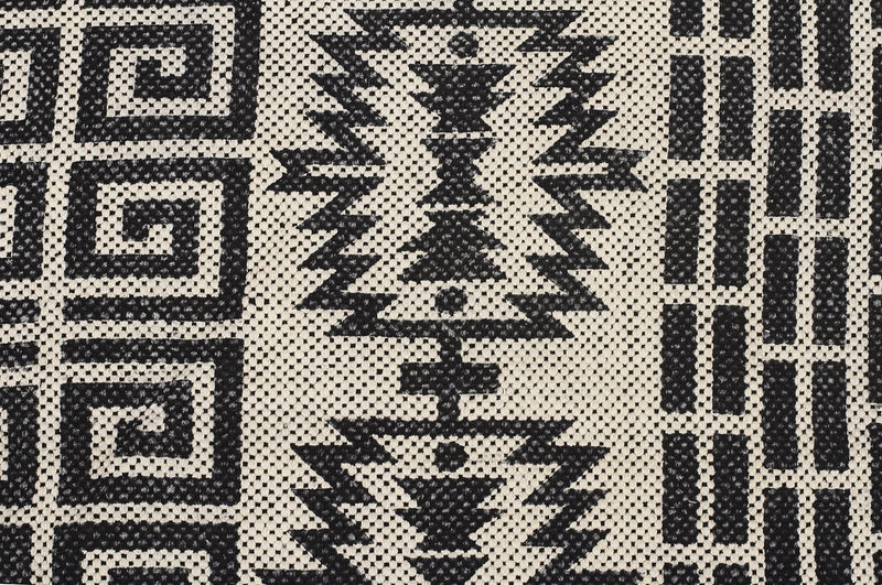 Totemic Flock Black Rug - MaddieBelle