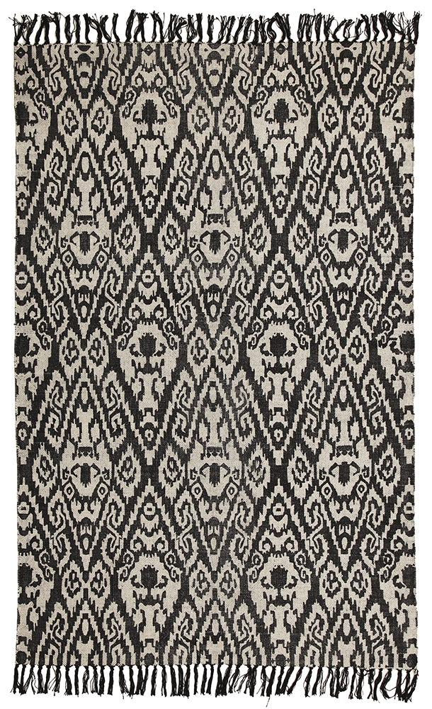 totemic-boho-modern-cotton-black-rug
