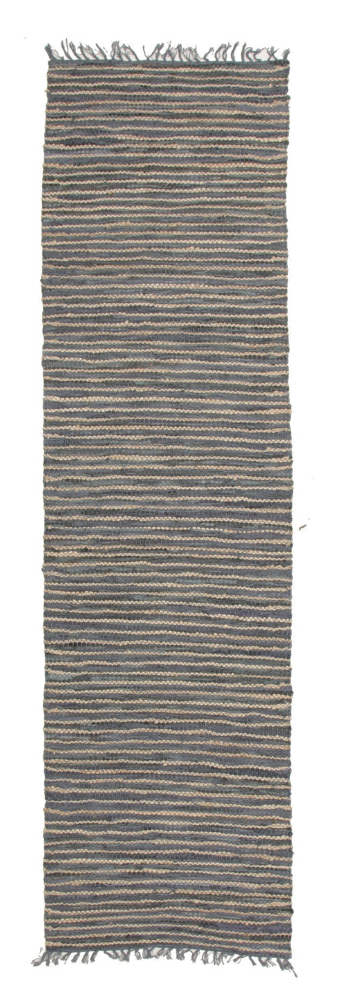 Bondi Leather and Jute Rug Grey - MaddieBelle