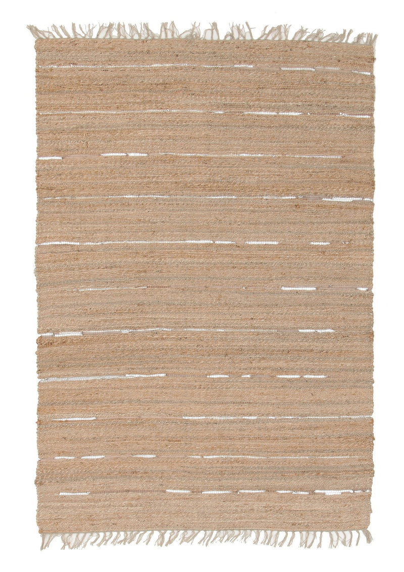 Saville Natural Jute and Leather Rug