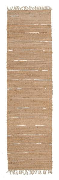 Saville Natural Jute & Leather Runner