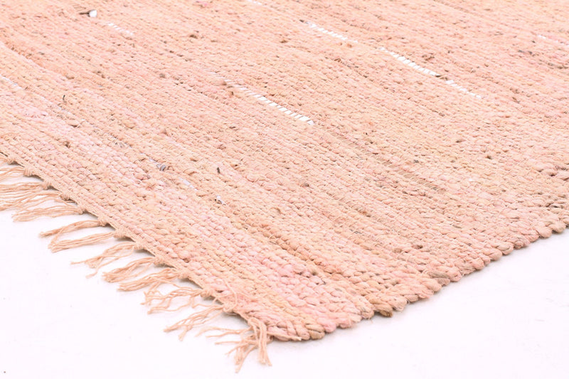 Saville Pink Jute and Leather Rug - MaddieBelle