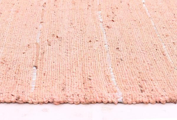 Saville Pink Jute and Leather Runner Rug - MaddieBelle