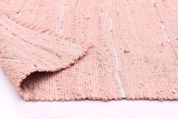 Saville Pink Jute and Leather Runner Rug