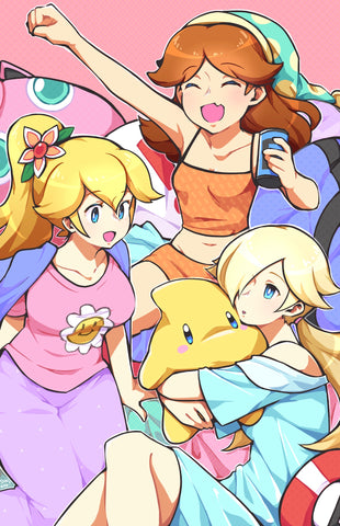 Print - Sleepover at Mushroom Kingdom