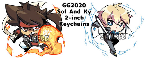 "Sol and Ky GG2020 Charms - 2"" Double-sided Clear Acrylic"