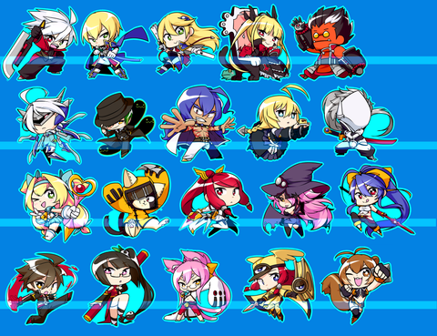 "Blazblue Charms - 1.5"" Double-sided Clear Acrylic"
