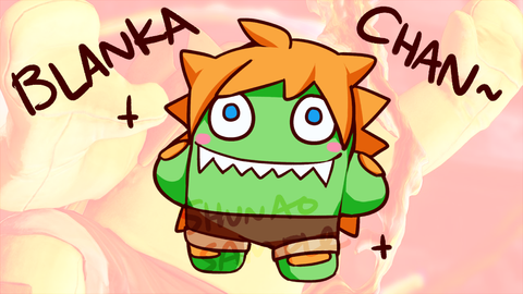 "Street Fighter Blanka-chan Charms - 1.5"" Double-sided Clear Acrylic [PREORDER]"