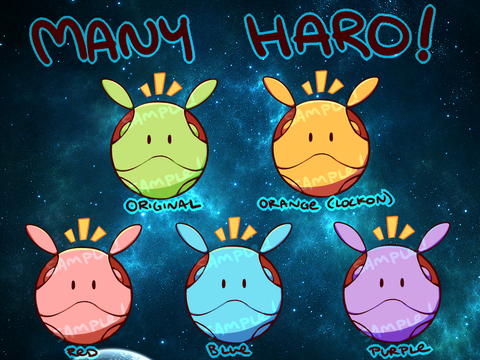 "Gundam Haro Charms - 1"" Double-sided Clear Acrylic [PREORDER]"