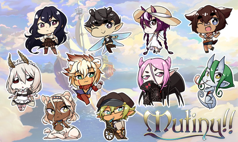 "Mutiny!! Charms - 1.5"" Double-sided Clear Acrylic"