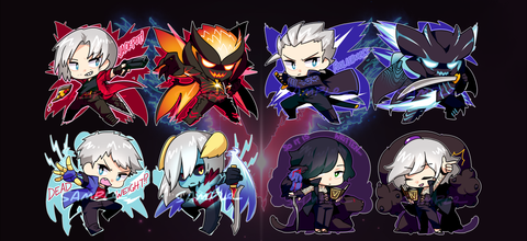 "Devil May Cry 5 Charms - 2"" Double-sided Clear Acrylic"