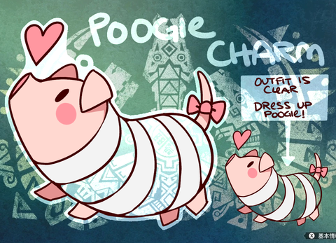 "Monster Hunter Poogie Charms - 1.5"" Double-sided Clear Acrylic [PREORDER]"