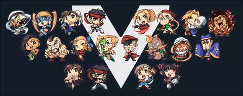 "Street Fighter V Charms - 1.5"" Double-sided Clear Acrylic"