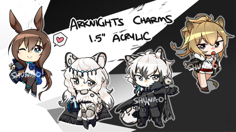 "Arknights Charms - 1.5"" Double-sided Clear Acrylic"