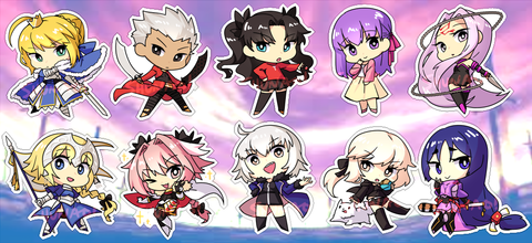 "Fate Series Charms - 1.5"" Double-sided Clear Acrylic"