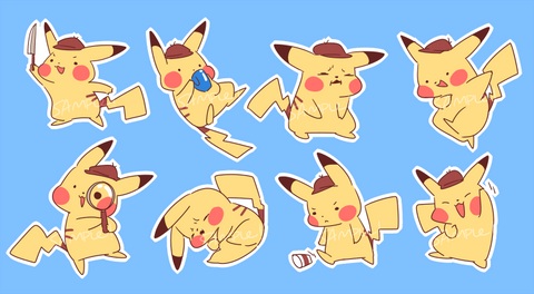 Detective Pikachu Sticker Sheet
