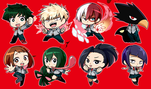"Hero Academia Charms - 2"" Double-sided Clear Acrylic [PREORDER]"