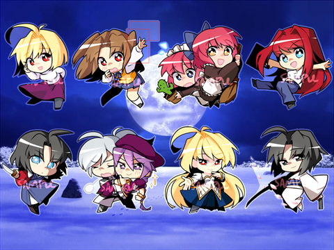 "Melty Blood Charms - 2"" Double-sided Clear Acrylic"