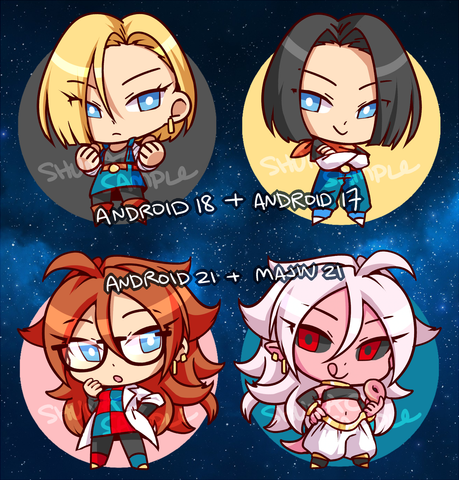 "DBFZ Android Charms - 1.5"" Double-sided Clear Acrylic [PREORDER]"