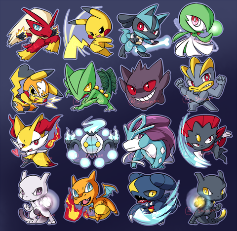 "[SALE] Pokemon Pokken Charms - 1.5"" Double-sided Clear Acrylic"
