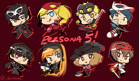 "Persona 5 Charms - 2"" Double-sided Clear Acrylic"