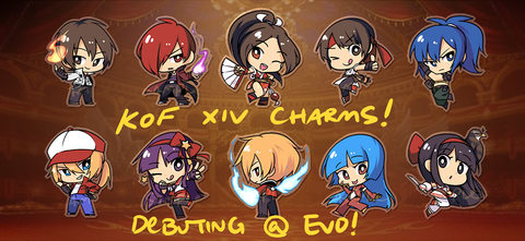 "King of Fighters Charms - 1.5"" Double-sided Clear Acrylic"