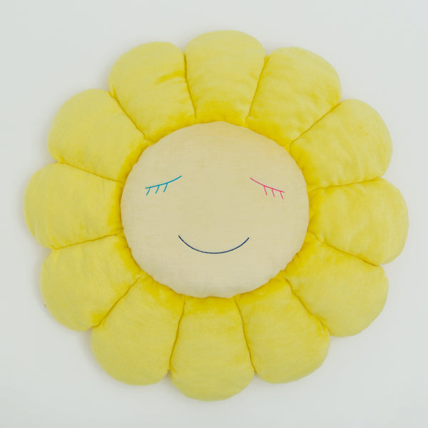 Takashi Murakami Official Merchandise – Flower Cushion in Yellow & White (1m)