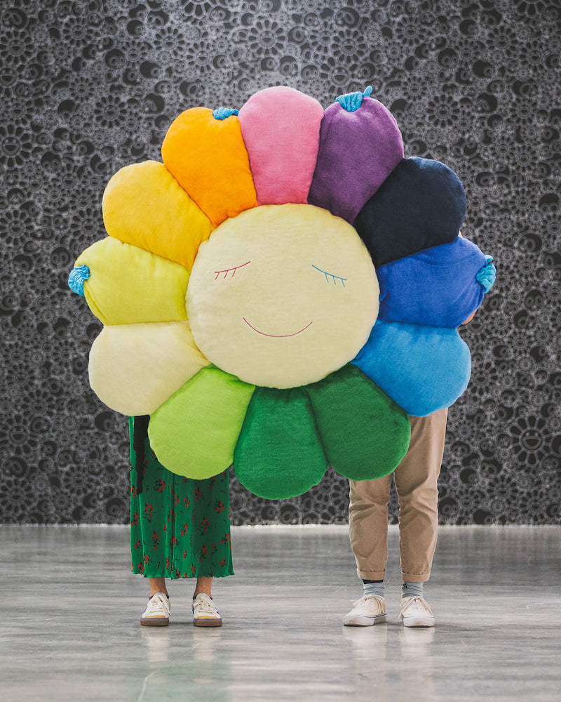 Takashi Murakami Official Merchandise – Flower Cushion in Rainbow & White (1.5m)